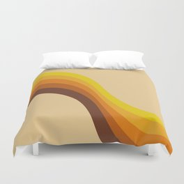 70s Color Palette Duvet Cover