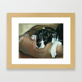 Keiko In Daddy's Chair Framed Art Print