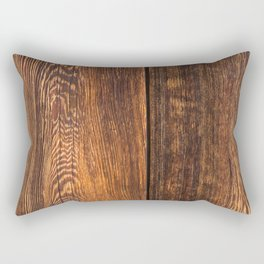 Old wood texture Rectangular Pillow