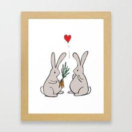 Love Buns Framed Art Print