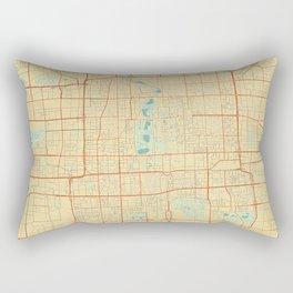 Beijing Map Retro Rectangular Pillow