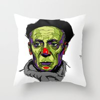 picasso Throw Pillows featuring P. Picasso by philip painter