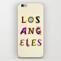 los angeles iPhone & iPod Skins featuring Los Angeles by Fimbis