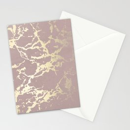 Kintsugi Ceramic Gold on Clay Pink Stationery Cards