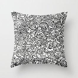 65 Roses Throw Pillow