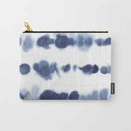 Navy Watercolour Stripes Carry-All Pouch