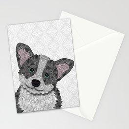 Welsh Corgi Coco (green eyes) Stationery Cards