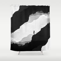 mountains Shower Curtains featuring White Isolation by Stoian Hitrov - Sto