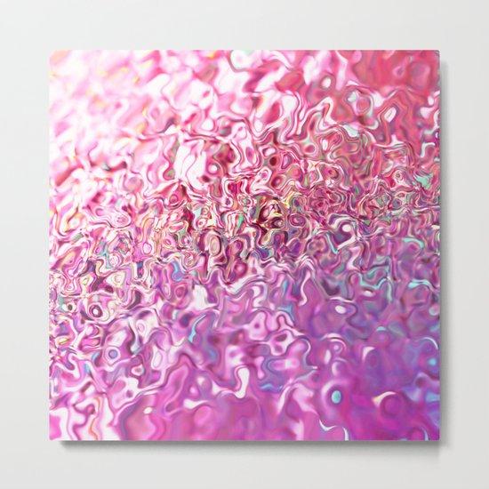 Molten Pink Metal Print