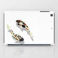koi fish iPad Cases featuring Koi fish by Rceeh