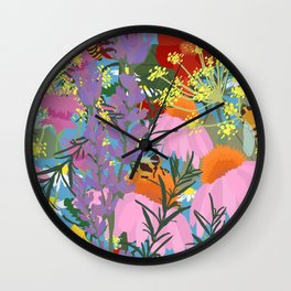 Aromatherapy for the Bees in Sky Blue Wall Clock