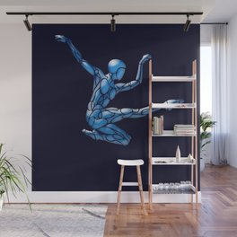 Blue Ice Dancer # Dance_Ink Wall Mural
