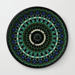 Green Citrine Beaded Mandala Wall Clock