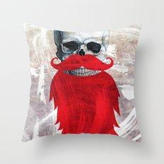 Beard Skull Throw Pillow