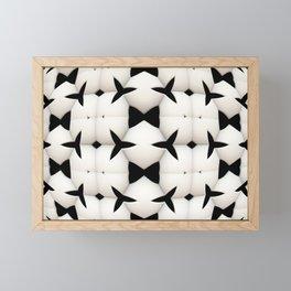Black and White Pattern Framed Mini Art Print