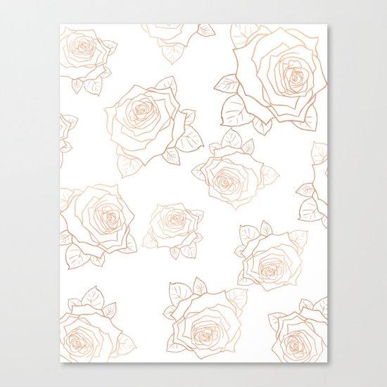 Metallic Roses Canvas Print