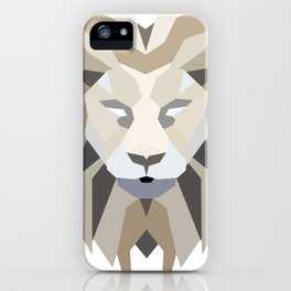 Polygonal Lion iPhone Case
