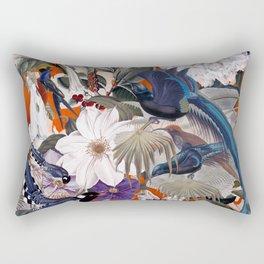 Floral and Birds XXVI Rectangular Pillow