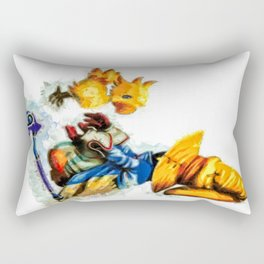 Vivi and the Chocobo Final Fantasy 9 Rectangular Pillow