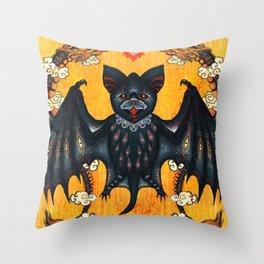 Black Bat Throw Pillow