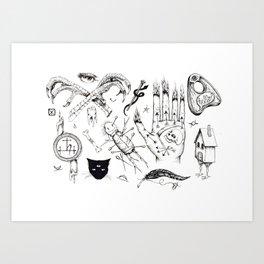 Witchcraft Flash Sheet Art Print