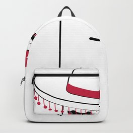 Face in Sombrero pom pom Backpack