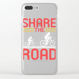 """A Nice Share Tee For A Sharing You """"Share The Road"""" T-shirt Design Biking Ride Travel Break Helmet Clear iPhone Case"""