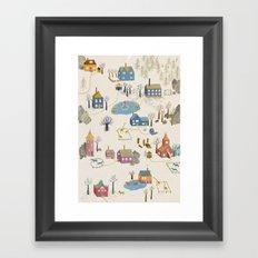 Little Village Framed Art Print