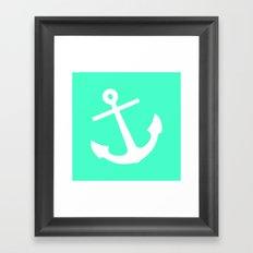 Mint Anchor Framed Art Print