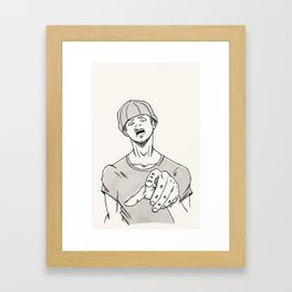 Listen Here Framed Art Print