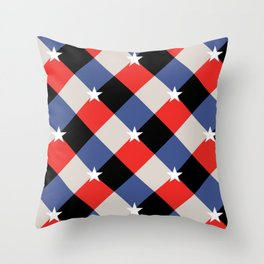 American Gingham Throw Pillow