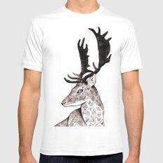 The Deer MEDIUM Mens Fitted Tee White