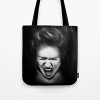 cracked Tote Bags featuring Cracked by Shannon Toohey