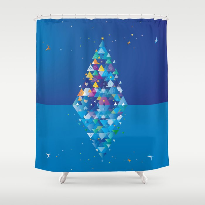 christmas Image 1 from 2 Shower Curtain