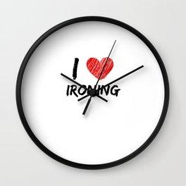 I Love Ironing Wall Clock