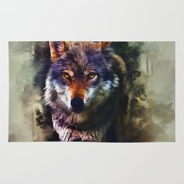 Wolf Timber Rug