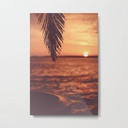 Warm Tropical Summer Sunset (Color) Metal Print