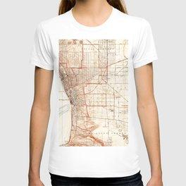 Vintage Map of Redondo Beach & Torrance CA (1934) T-shirt