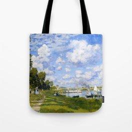 12,000pixel-500dpi - Argenteuil Basin - Claude Monet Tote Bag