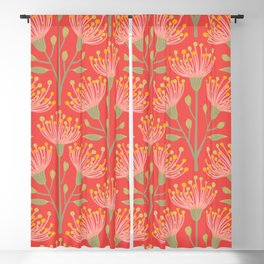 EUCALYPTUS in LIVING CORAL Blackout Curtain