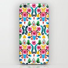 Colorful oriental watercolor floral pattern. iPhone & iPod Skin