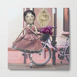 Whimsical Pink Ballerina Metal Print