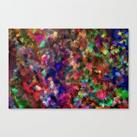 confetti Canvas Prints featuring confetti by ThysWyldeLyfe