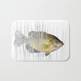 Black Crappie Fish Bath Mat