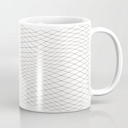 Fish net / black on white distorted geometry Coffee Mug