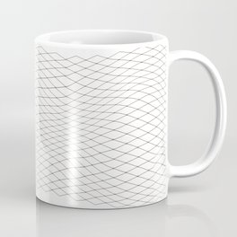 Fish net / black on white distorted geometry Coffee Mug