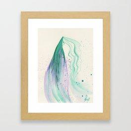 Teal Lady Framed Art Print