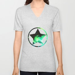 Green Nebula Unisex V-Neck
