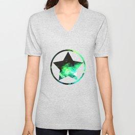 Green Nebula Unisex V-Neck