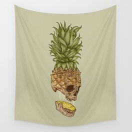 Pineapple Skull Wall Tapestry